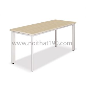 Bàn chân sắt oval mặt gỗ công nghiệp BCO16 sản xuất bởi nội thất 190