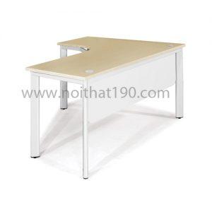 Bàn chân sắt oval mặt gỗ công nghiệp BLT14-CO sản xuất bởi nội thất 190