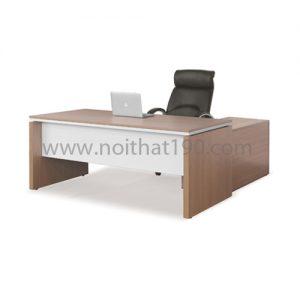 Bàn làm việc lãnh đạo mặt gỗ công nghiệp BLD02 sản xuất bởi nội thất 190