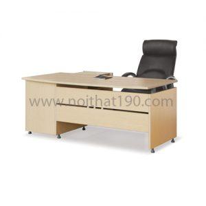 Bàn làm việc lãnh đạo mặt gỗ công nghiệp BLD03 sản xuất bởi nội thất 190