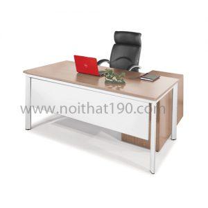 Bàn làm việc lãnh đạo mặt gỗ công nghiệp BLD05 sản xuất bởi nội thất 190
