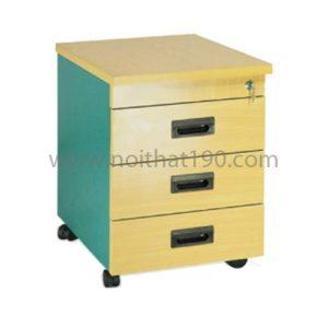 Hộc bàn di động HG01V bằng gỗ phủ Melamin kết hợp với bàn làm việc. Sản xuất bởi nội thất 190