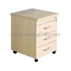 Hộc bàn di động HG08 bằng gỗ phủ Melamin kết hợp với bàn làm việc. Sản xuất bởi nội thất 190